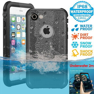For iPhone 5 6 7 8 Plus Waterproof Case Cover IP68 Underwater Hybrid Protector