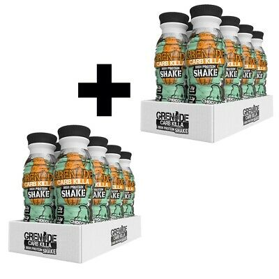 Grenade Carb Killa Shake Protein Ready To Drink Shake On the Go 16 x 500ml