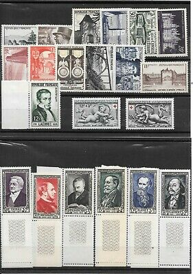France Annee Complete 1952 Du N° 919/39 Neuf Sans Charniere++++++++15,95€+++++++