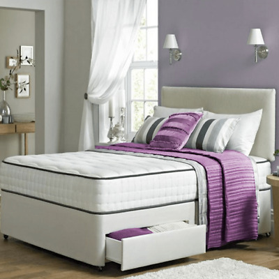 Orthopaedic Divan Set Memory Mattress & Headboard 3Ft, 4Ft6 Double 5Ft King