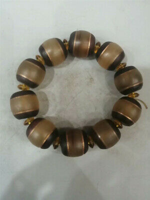 Collection Chinese Exquisite Ox horn Hand-made Ox horn bead Bracelet