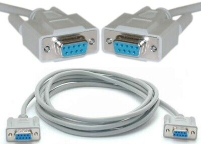Lot10 DB9pin Female~F Null//Nul Modem Serial RS232 cable gender changer Adapter
