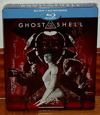 Ghost IN The Shell Steelbook Blu-Ray + Extras Neuf Espagnol (sans Ouvrir) R2
