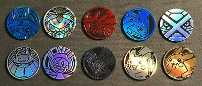 Pokemon Coins 10 Coin Pokemon TCG Assorted Lot - NO DUPLICATES - Lucario Chespin