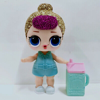 lol doll Big Sister Glitter Gold Purple Hair Blue Dress Kids Birthday Gift Cute