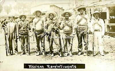 1911~Armed Mexican Revolutionists~Real Photo Postcard~Unused Rppc