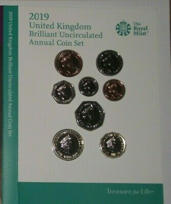2019 United Kingdom BU Brilliant Uncirculated Annual coin set