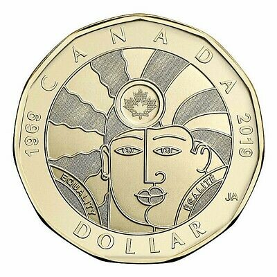 1 Dollar Special Canada Coin Loonie, Equality, New, UNCIRCULATED, 2019