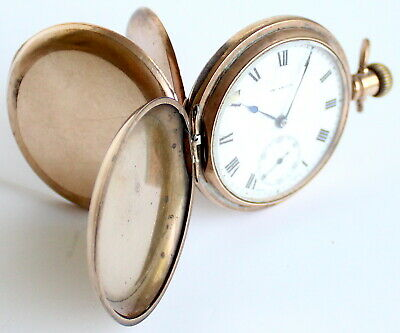 Pocket Watch - Gold Plated - The Angus - Swiss Made - 15 Jewels - Antique - Rare