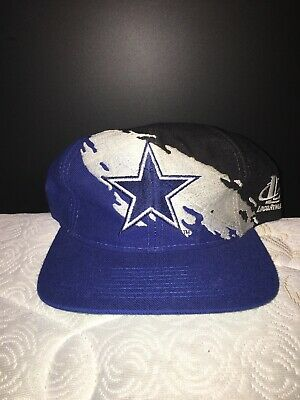 d0e50b69415e30 Dallas Cowboys LOGO ATHLETIC NFL Splash Logo Vintage Snapback Hat Cap 90s
