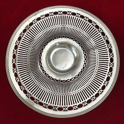"""Antique Forbes SilverPlate Sheffield Reproduction #96 10"""" Footed Plate"""