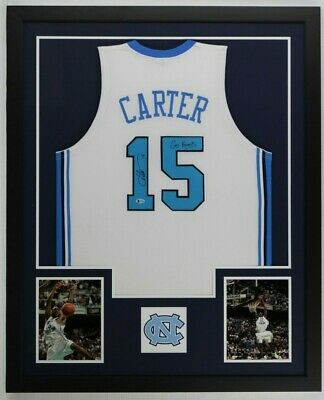 detailed look aeb75 1f2c6 VINCE CARTER AUTOGRAPHED New Jersey NETS jersey Brooklyn ...