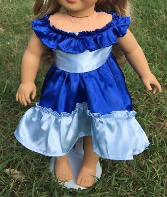 "Fits 19"" Chatty Cathy Doll CLothes Blue Princess Fairy Dress  Halloween Costume"