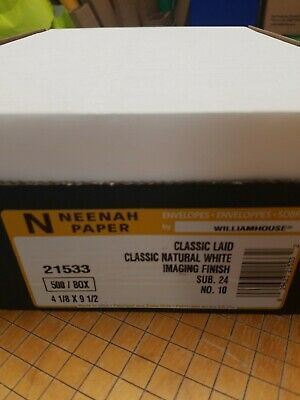 Classic Laid Natural White Laser 24# #10 Envelope 500/pack
