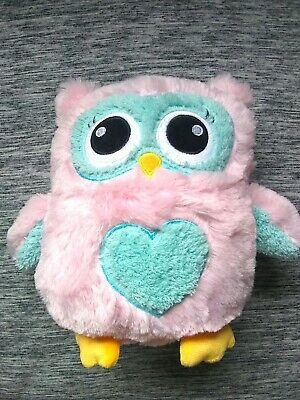 FAB Jumbo Plush Pink/Blue Owl Coin Bank