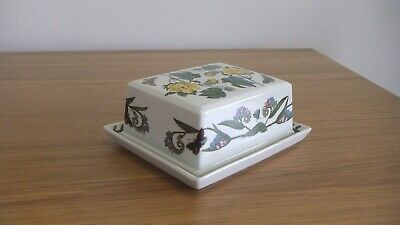 Portmeirion Pottery The Botanic Garden Butter / Cheese Dish With Lid