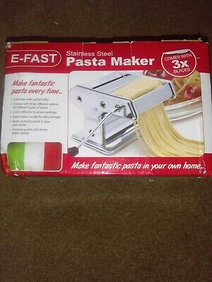 Pasta Maker E-Fast stainless Steel with 3 blades. New in box