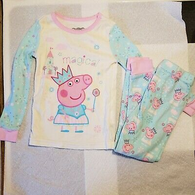 Peppa Pig Toddler Girl Ballerina Long Sleeve Shirt & Pants Pajamas pre owned 3T