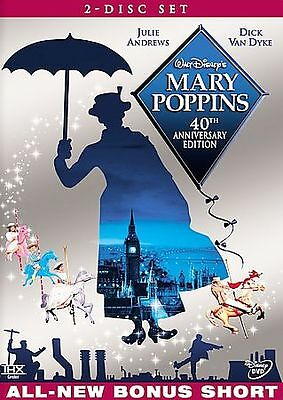 Mary Poppins DVD 40th Anniversary Two-Disc Set  Brand New  w/ Sleeve