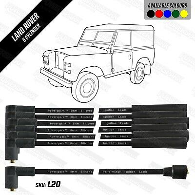Land Rover 6 cylinder HT Leads 8mm Black Double Silicon