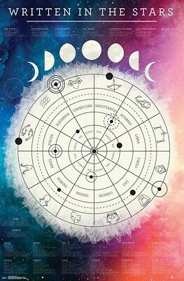 ASTROLOGICAL CHART POSTER - 22x34 - 17836