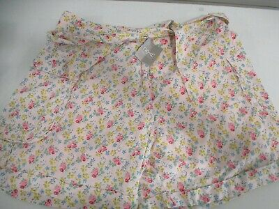 BNWT New Girls Next Floral Soft Cotton Shorts Adjustable Waist  Age 16 Years