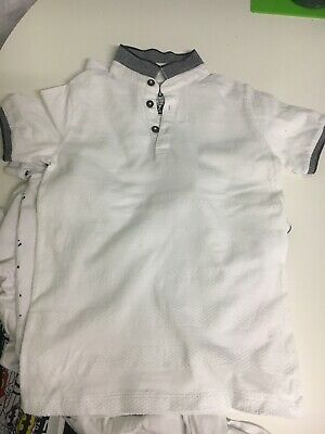 Boys White Polo Tshirts X3 Next H&M Matalan Age 7-8yrs