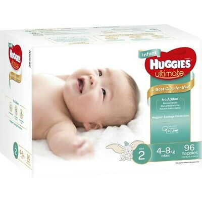 Huggies Ultimate Infant Nappies Size 2 96 Nappies Pack