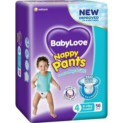 BabyLove Jumbo Nappy Pants Toddler 9-14kg 56 Pack