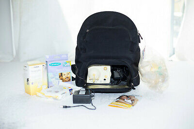 Medela Breast pump backpack bundle with accessories, freezer bags+