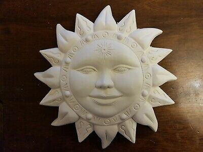 Mystical Sun Face Rubber Latex Mould Mold Wall Decor Hanging Plaque celestial