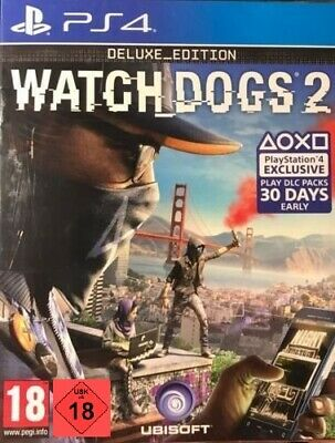 PS4 Game Watch Dogs 2 Deluxe Edition New