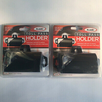 2 Black MINI EZ Pass Clip Electronic Toll Pass Holder for the New Small EZ Pass
