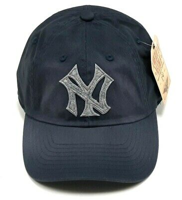 8c8af3ac62f33a New York Yankees American Needle Cap MLB Washed Twill Strapback Slouch Blue