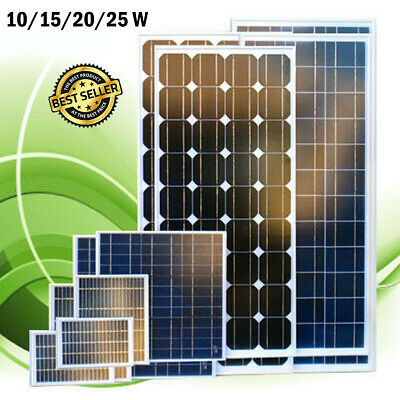 Polycrystalline Solar Panel Board Set Power Adapter Car Cell Battery Charger Kit
