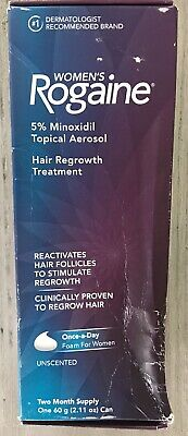 NIB, Women's Rogaine Unscented, Two Month Supply, Foam, Exp. Date: 2021/02