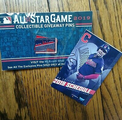 2019 All-Star Game Limited Pin CLEVELAND SKYLINE Fanfest ASG + Indians Schedule