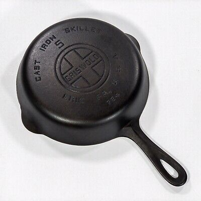 Vintage GRISWOLD # 5 Cast Iron Skillet LARGE BLOCK Smooth 724 - ST. ALICE