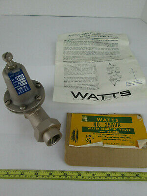 New Watts Water Reducing Valve and Strainer No. 25AUB Size 3/4""