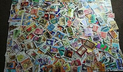 Bulk 1000+ Australian  Stamps Used Off Paper