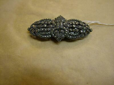 vintage  Marcasite dress clips with brooch frame,pin,sterling silver