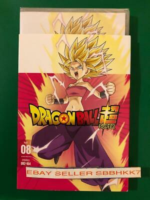 DRAGON BALL SUPER: PART 8 Eight DVD EPISODES 092-104 & Slipcover AUTHENTIC READ