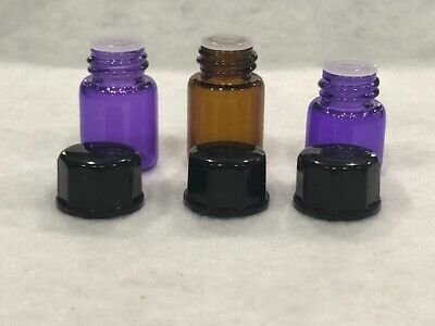 1-144 Pieces 1ML/2ML Essential Oil Perfume Small Sample Glass Vials Bottles