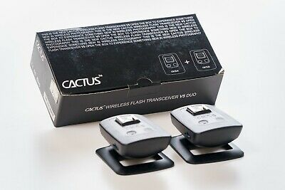 Flash Cactus V5 Wireless Transceiver Duo Trigger Pack New 2 Black W Double