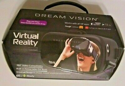 Dream Vision Virtual Reality Smartphone Headset Works with All Apps Tzumi