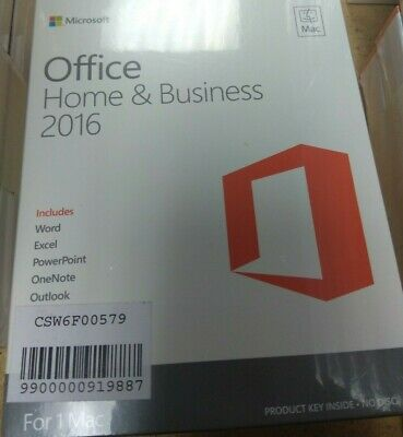 Office Home & Business 2016 - Mac