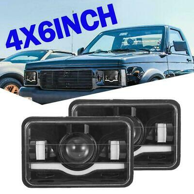 """2Pcs 4""""x6""""Inch LED Headlight High Low Sealed Beam Waterproof H4 for Toyota Hilux"""