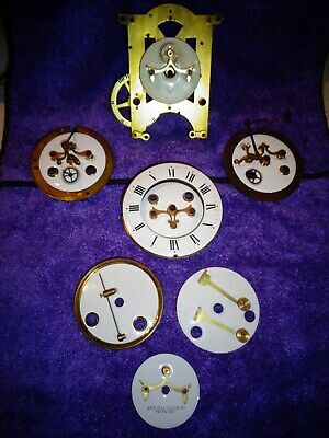 Ansonia and Unknown Maker Open Escapement Porcelain Dial, Parts, and Verges