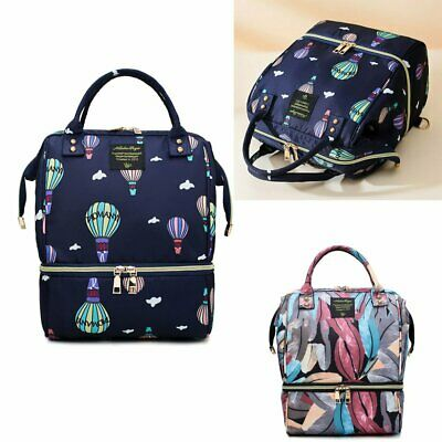 Large Baby Nappy Diaper Bag Mummy Maternity Travel Nursing Changing Backpack