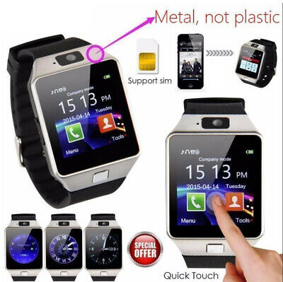 DZ09 Bluetooth Smart Watch For Android & iOS Smart Phones With Camera SIM Slot